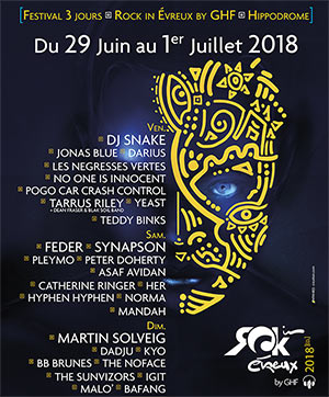 ROCK IN EVREUX 2018 - PASS 1 JOUR
