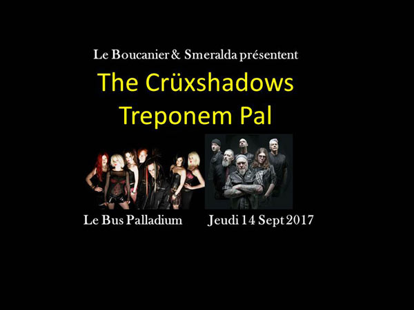 THE CRUXSHADOWS + TREPONEM PAL