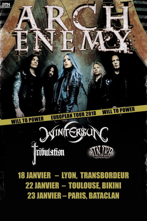 ARCH ENEMY /WILL TO POWER TOUR 2018
