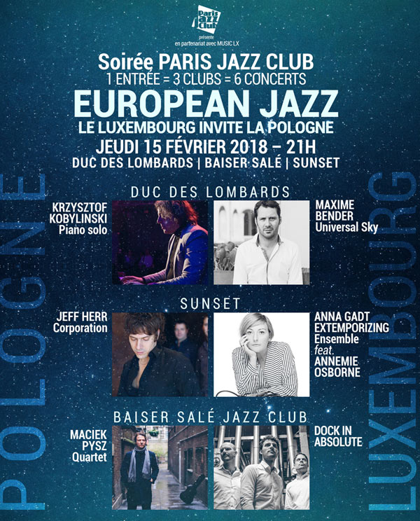 EUROPEAN JAZZ: LUXEMBOURG & POLOGNE