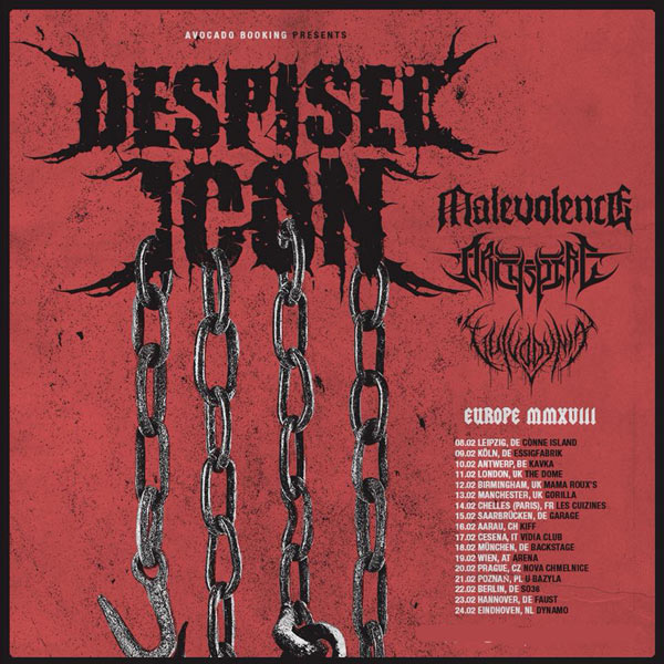 DESPISED ICON/MALEVOLENCE/ARCHSPIRE
